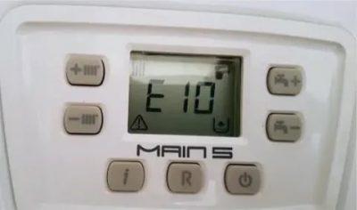 газовый котел бакси ошибка е96