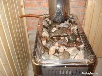 Как правильно разложить камни в банной печи?